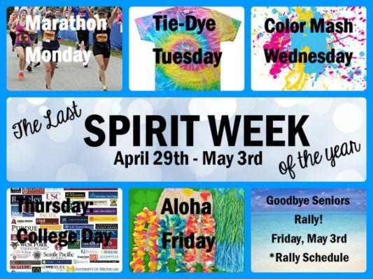 High School Spirit Week Ideas