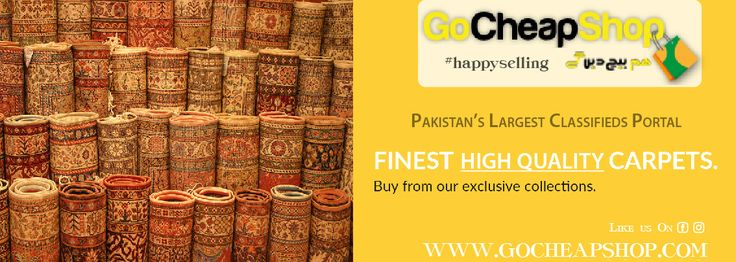 Carpets Colorful and beautiful designed carpets are available to decorate the floor of your home, marriage hall and marriage lawns etc. These carpets are made up of a very high-quality material and also available in various shapes and all sizes. The various range of carpets and rugs you can buy at Faisalabad location of #Pakistan or you may also buy this alluring carpets online from just one click at #GoCheapShop. The biggest benefit of online shopping is that you can get latest products in…