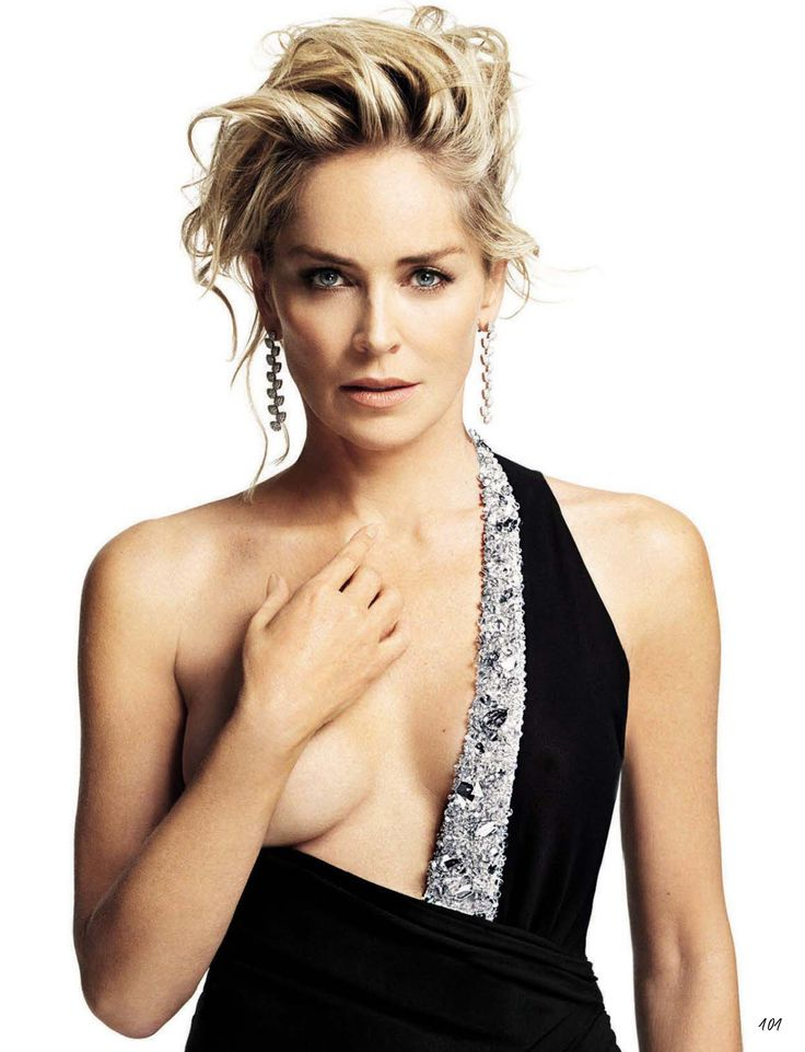 Sharon Stone hot poses from GQ Magazine (May 2014)