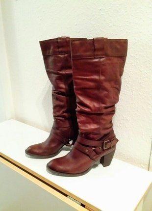 Kaufe meinen Artikel bei #Kleiderkreisel http://www.kleiderkreisel.de/damenschuhe/stiefel/141167010-braune-stiefel-mit-absatz-zweimal-getragen