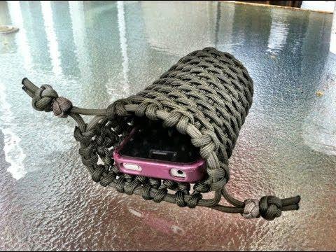 Paracordist's paracord iPhone case double cinch pouch