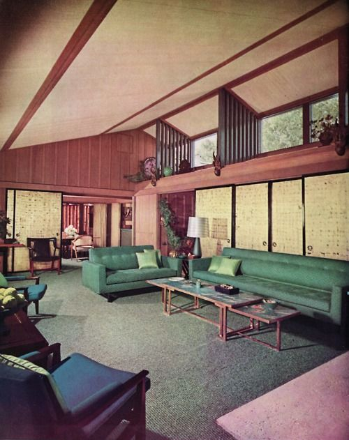 Retro Midcentury Modern Interior Design Home 2012 Room House Designs