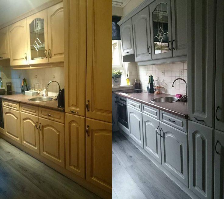 Keuken Fineer Verven : De keuken is mooi geworden ik was die stond te twijfelen wit of grijs