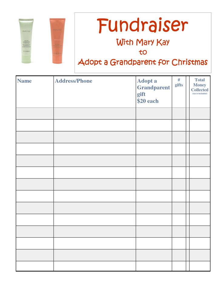 13 best images about mary kay fundraising ideas on for Candle order form template