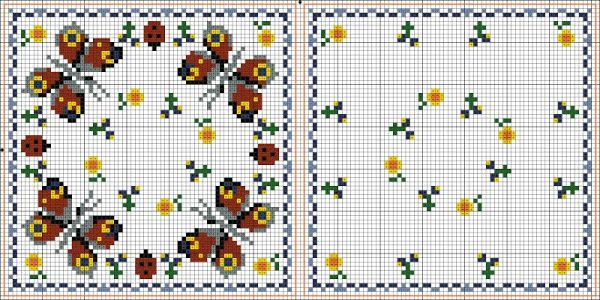 Butterfly biscornu pattern