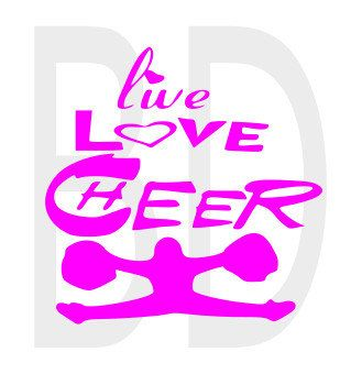 Download Live Love Cheer SVG eps dxf cricut air by Boogiesdesigns ...