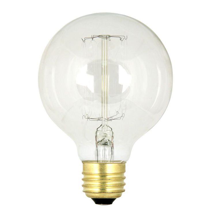 Feit Electric BP60G25/VG 60 Watt G25 Incandescent Vintage Light Bulb