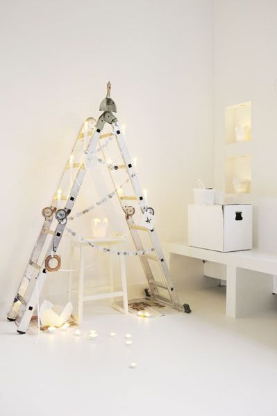 alternative christmas trees, christmas diy, nordic christmas, via http://www.scandinavianlovesong.com/