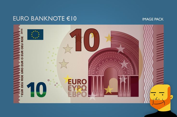 Euro Banknote €10 (Image) by Paulo Buchinho on Creative Market