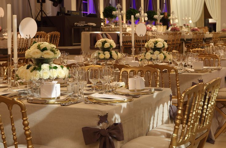 Wedding table set-up