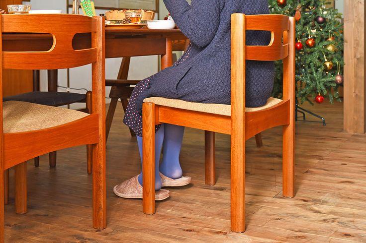 北欧家具 フィンランドASKO製 チーク材 ダイニングチェア(クッション座面チェア)(1)