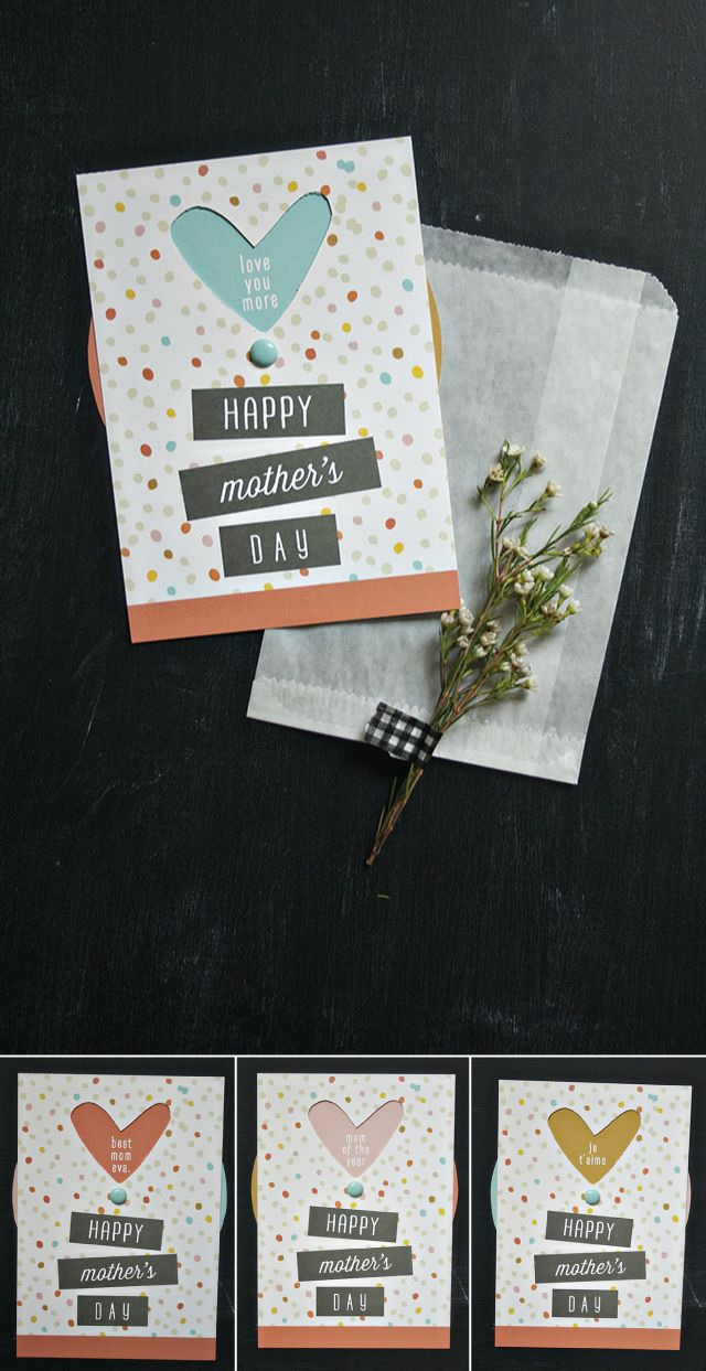Mother S Day Wheel Card Comes With Free Template Messages Included And Blank For Your Own