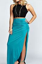boohoo Ruched Side Jersey Maxi Skirt - jade azz50583 Floral day skirts are everywhere – choose from mini, midi or maxi length depending on your signature style. Or make a statement with Aztec prints, or a very bold colour, teamed with a cute little vest http://www.comparestoreprices.co.uk/skirts/boohoo-ruched-side-jersey-maxi-skirt--jade-azz50583.asp