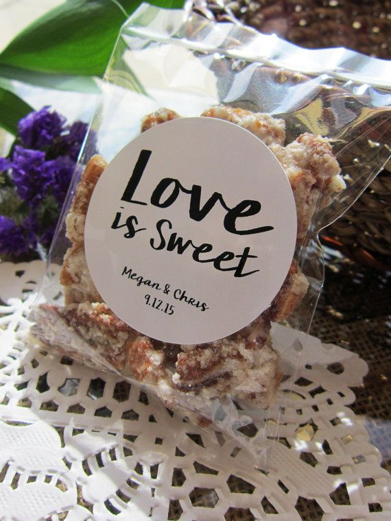 Love is Sweet Candied Pecan Wedding Favors Our Etsy shop: www.NewOrleansCandies.etsy.com