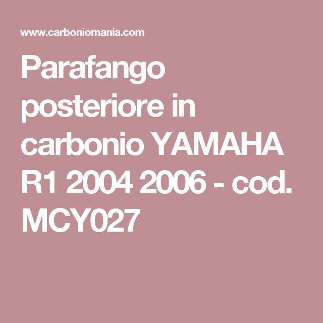 Parafango posteriore in carbonio YAMAHA R1 2004 2006 - cod. MCY027