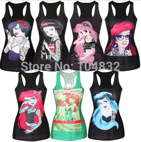 Midden oosten digitale print breien vrouwen tank tops sexy meisjes topje zeemeermin tanks cartoon afdrukken zomer mode mouwloos vest in             EAST KNITTING Harajuku Free Shipping 2015 Women Winter Hoody Casual Sweatshirt van tank tops op AliExpress.com | Alibaba Groep