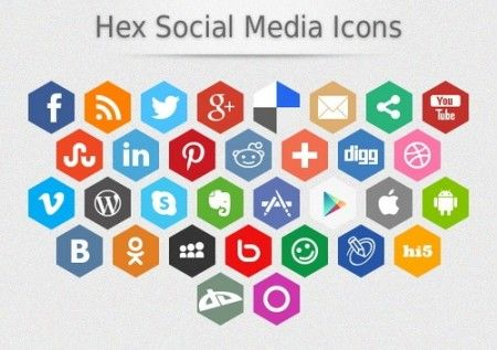 75 Free Social Media Icon Sets to Beautify your Site
