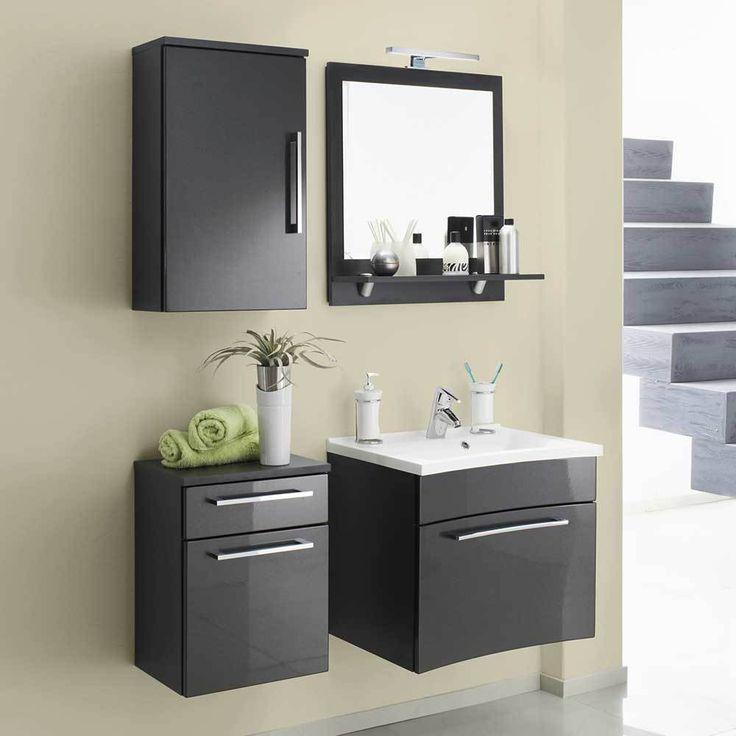 Badezimmermöbel Set In Anthrazit Hochglanz Hängend (4 Teilig) Jetzt  Bestellen Unter: Https