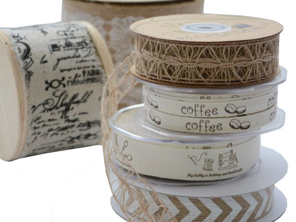Natural look ribbons for a more rustic look.