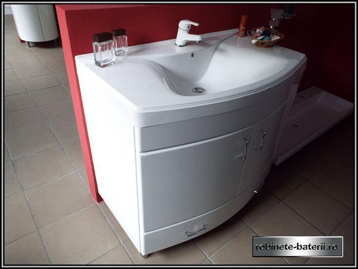 Mobilier baie curbat Milano 95 cm