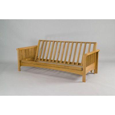 gold bond portland futon frame size loveseat finish cherry oak