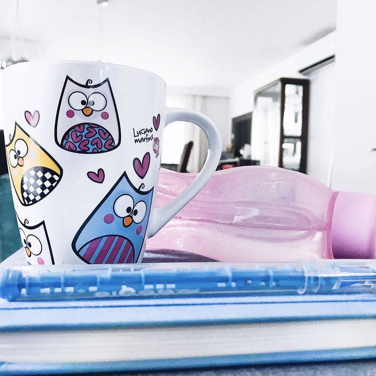 """Bom dia lindezas!!! 💛 com meu café + água + caderno de anotações diárias! E vamos que vamos... 〰 """"O segredo para o sucesso? Não é a dieta, não é o treino, não é acordar cedo e ir dormir tarde trabalhando! O segredo é a constância. Nada disso funciona se você SE DEDICA SÓ """"às vezes""""! 💭"""
