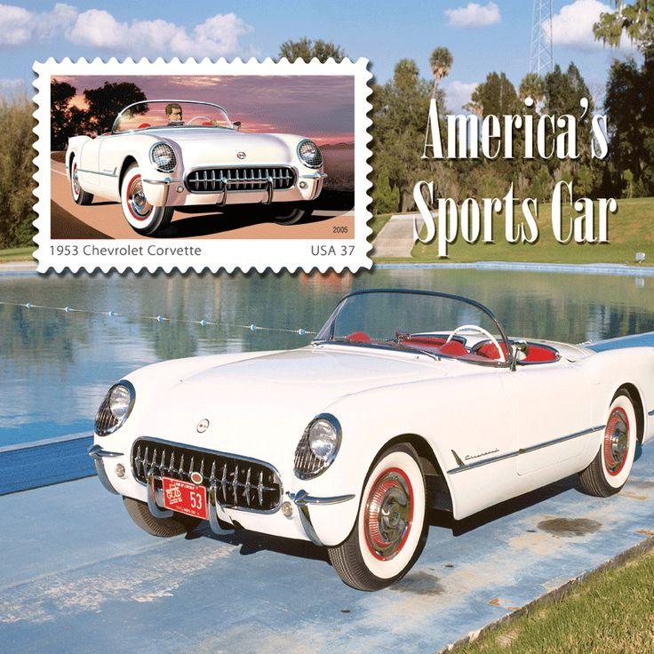 "Set a ""Vintage Sports Car"" as your computers wallpaper image. See this and the many other stamp fun wallpapers available from the American Philatelic Society (www.stamps.org)"