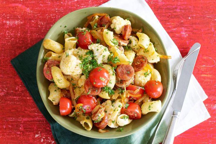 Italië meets Spanje in dit heerlijke pastagerecht. Extra voordeel: ook de kids smullen ervan - Recept - Allerhande
