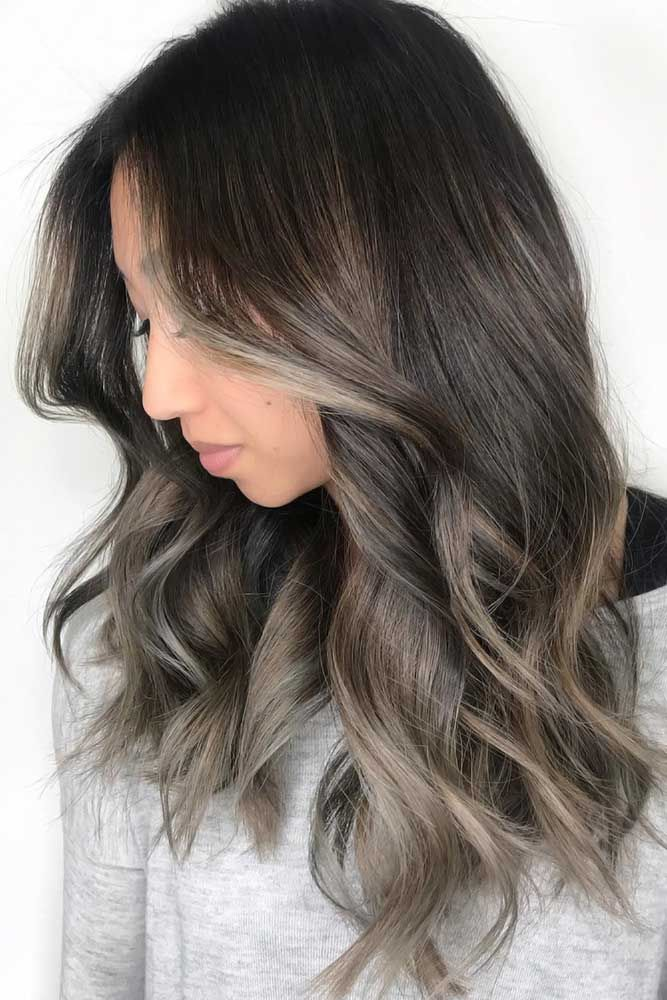 45 Ideas To Freshen Up Your Hair Color With Partial Highlights Ash Blonde Highlights On Dark Hair Blonde Highlights On Dark Hair Blonde Highlights On Dark Hair Brunettes
