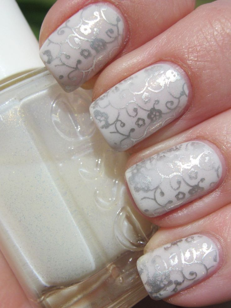 Pretty white sparkly nails  - a great way to make you feel extra special on your Wedding Day - we do everything we can to ensure that your wedding day is exactly how you want it so if you are looking for a wedding venue in Essex try www.smeethamall.co.uk