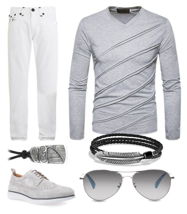 """My daughter's options for her cool daddy..."" by alexiss-yvore on Polyvore featuring True Religion, TOMS, Geox, David Yurman, men's fashion and menswear"