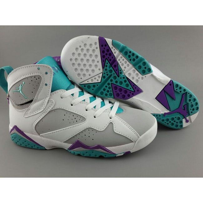 newest b679d 3d0eb Air Jordan 7 (VII) Retro Easter Egg Womans Basketball Shoes White Grey Mint