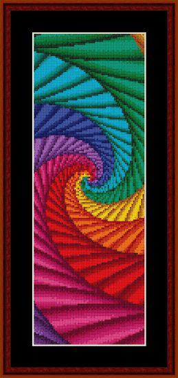 Fractal 54 Bookmark, from @Cross Stitch Collectibles.