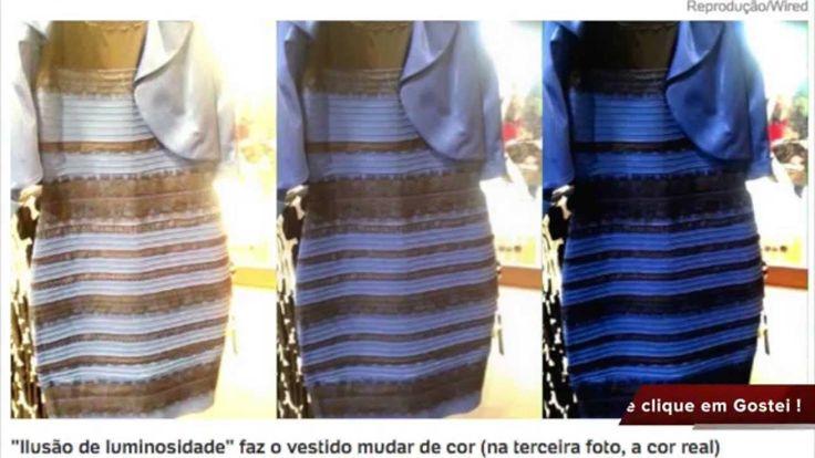 Vestido é Azul e preto ou branco e dourado ?