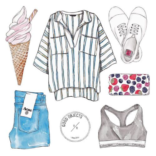 Good objects - Is it the weekend yet? … #goodobjects #illustration #watercolor