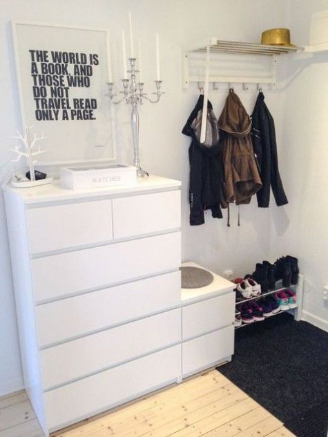 flurgarderobe ikea malm dresser is a cool piece that can fit any bedroom closet entryway or other room taken in white its perfect for most of modern interiors flur garderobe