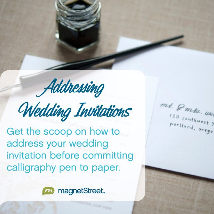 Learn how to properly address wedding invites