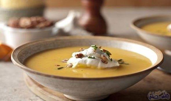 طريقة عمل شوربة البطاطا بالعين جمل Sweet Potato Pecan Delicious Soup Soup Recipes