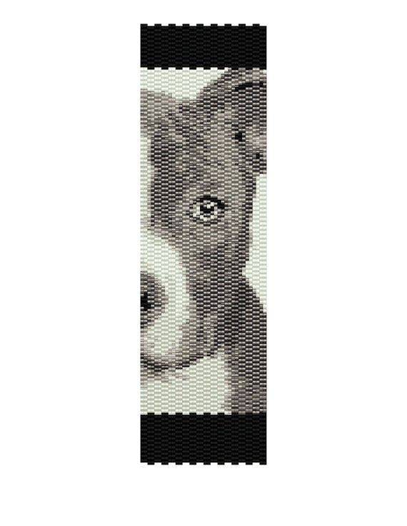 Pit Pup Peyote Pattern by MyCraftAsylum on Etsy,