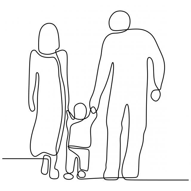 Familia De Pie Juntos Dibujo Lineal Continuo Ilustracion Vectorial Concepto Minimalista Personas Tema 230 Dibujo Lineal Ilustracion Vectorial Dibujo Con Lineas