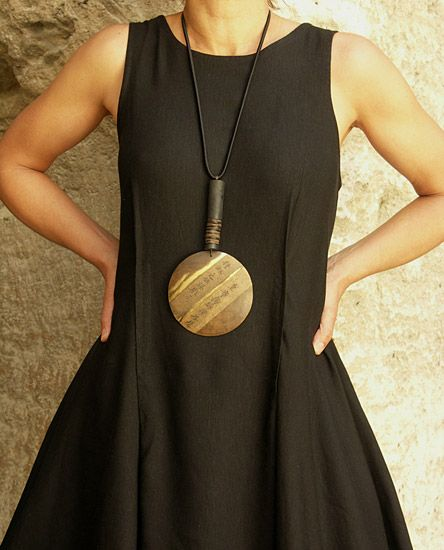 fantastic necklace!  big statement on a simple elegant dress!  nothin better!
