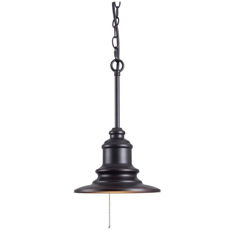 1 Light Outdoor Hanging Oil Rubbed Bronze Pendant 93031ORB At The Home Depot 8815