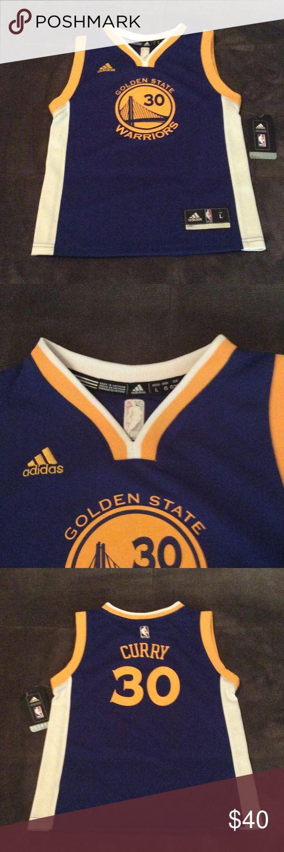 "Kids Stephen Curry 30 Golden State Warriors Jersey Authentic Kid's Stephen Curry Golden State Warriors Revolution 30 Jersey, Size 7/XL.  Breathable fabric and sleeveless arms make this a great top for summer, and it's perfect for layering in colder temperatures.  Best suited for kids 48-49 1/2"" inches in height and 56-58 1/2"" inches in weight or less.  All measurements are taken from the manufactures specs and are approximate. 🚫 Trades or holds, and I will accept reasonable offers, but only…"