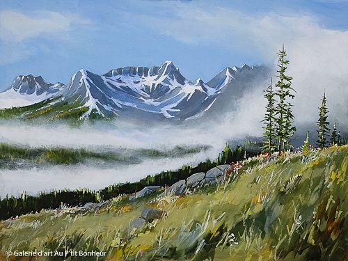Allan Dunfield, 'Morning Mist', 30'' x 40'' | Galerie d'art - Au P'tit Bonheur - Art Gallery
