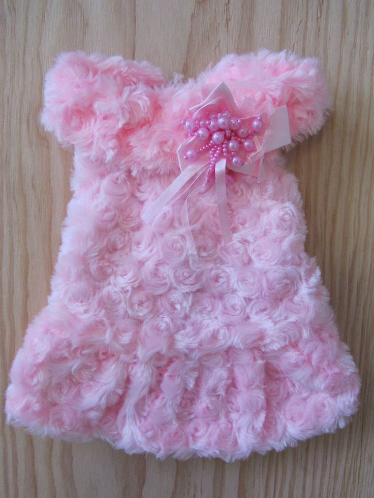 A little FLUFFY~FLUORESCENT PINK dog dress pet coat clothes sizes for small dog   seller: rainbow-and-mabeo on ebay.com  15.38