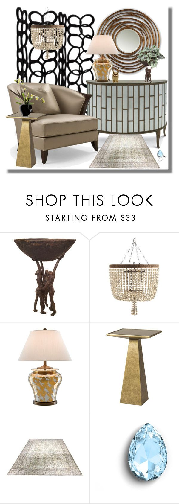 """""""The Dorchester"""" by jacque-reid ❤ liked on Polyvore featuring interior, interiors, interior design, home, home decor, interior decorating, Christopher Guy, Oly, Swarovski Crystallized and Eva Solo"""