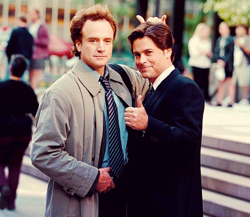 Josh and Sam. The West Wing. SUCH  a huge crush on Josh.