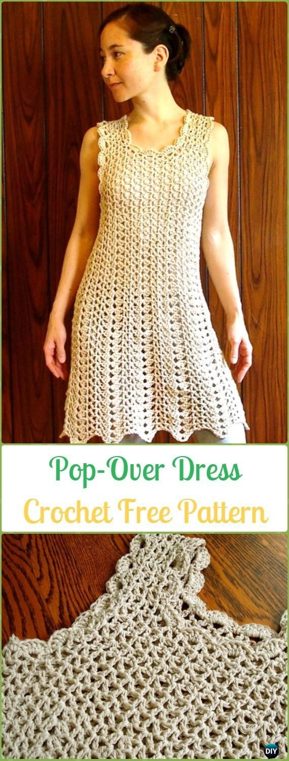 Crochet Pop-Over Dress Free Pattern - Crochet Women Dress Free Patterns
