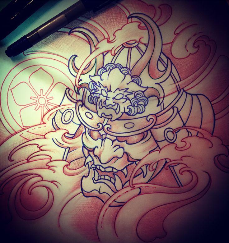 Amsterdam TATTOO 1825 KIMIHITO  Samurai Mask  TATTOO design