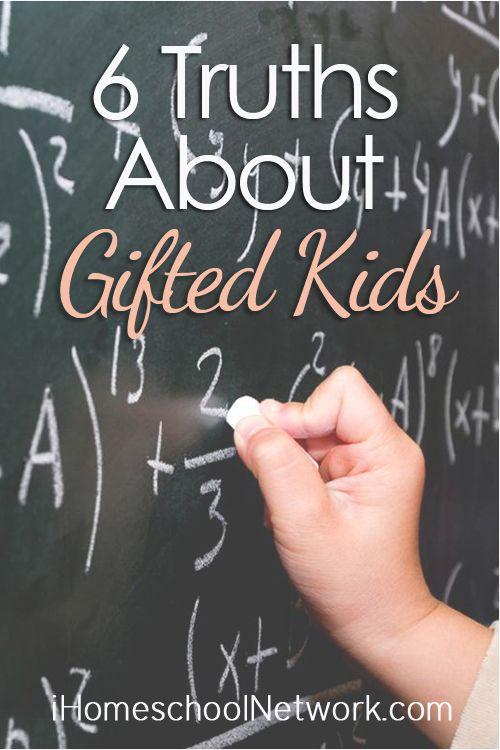 #GiftedAwarenessWeek  6 Truths About Gifted Kids | @iHomeschoolNet | #ihsnet